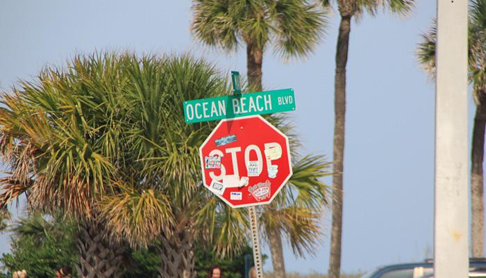 Droga na Florydzie - ulica i znak drogowy