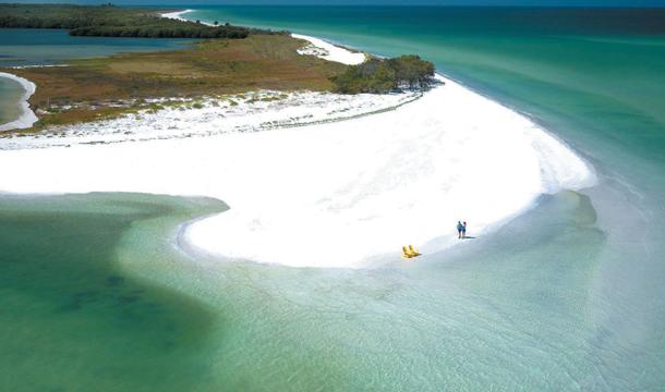 Plaża i wyspa Caladesi Island na Florydzie