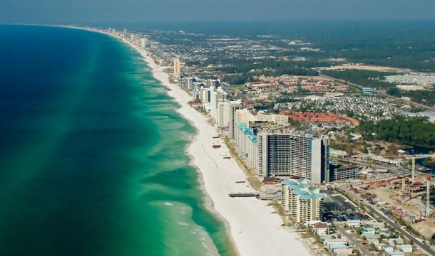 Plaża Panama City na Florydzie