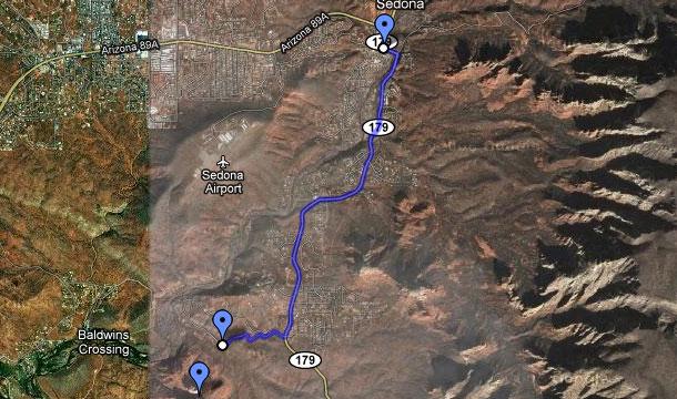 Sedona-Arizona-Mapa