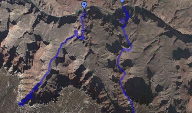 Szlak do Kaninu Coloorado - mapa