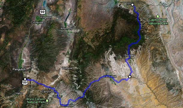 utah-autostrada-12-mapa