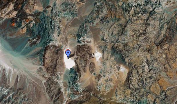 dolina śmierci mapa