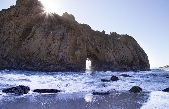 Plaża Big Sur w Californi