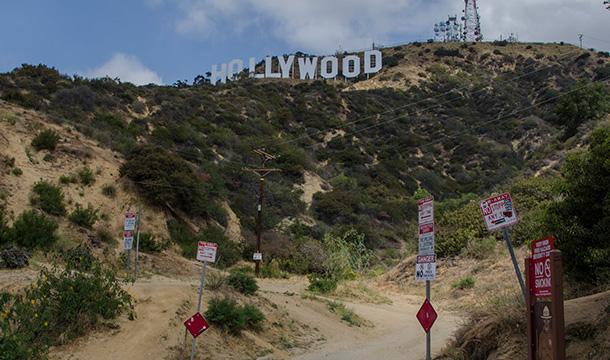 Znak Hollywood - dojazd