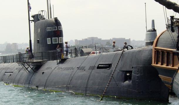 San Diego port -łódź podwodna