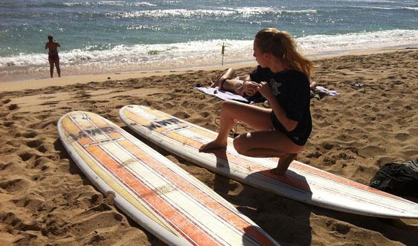 Hawaje surfingiem słyną...