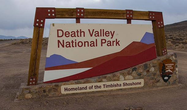 Dolina Śmierci - kemping