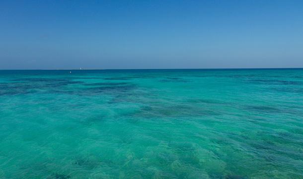 Morze Karaibskie na Florydzie przy Dry Tortugas