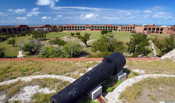 Fort Jefferson w Parku Narodowym na Florydzie