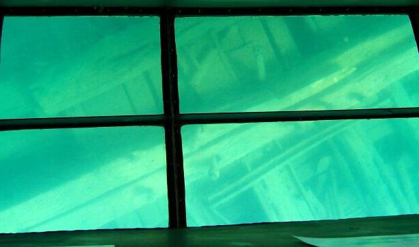 Zatopiony statek - jezioro górne