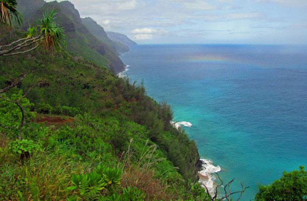 Hawaje-klify-tecza