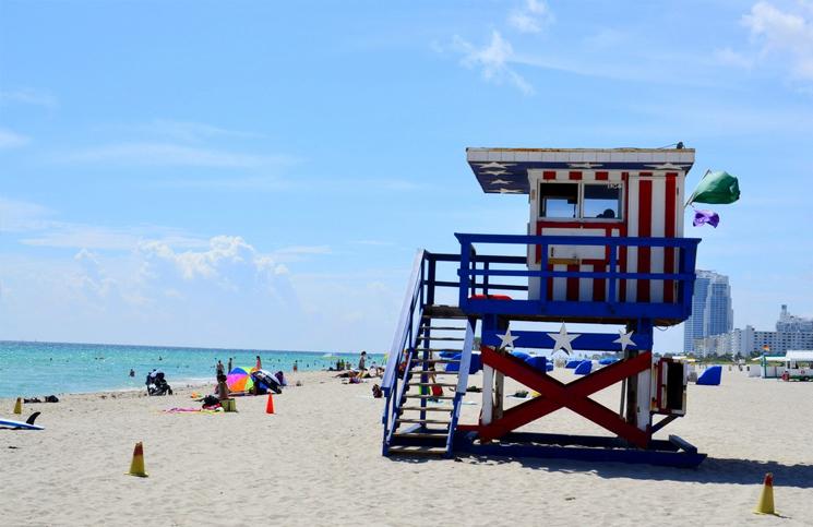 Budki ratowników na Florydzie