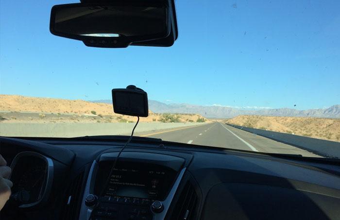 Nawigacja GPS - przejazd przez USA