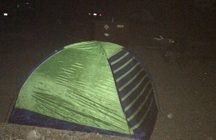 Noc po namiotem w USA
