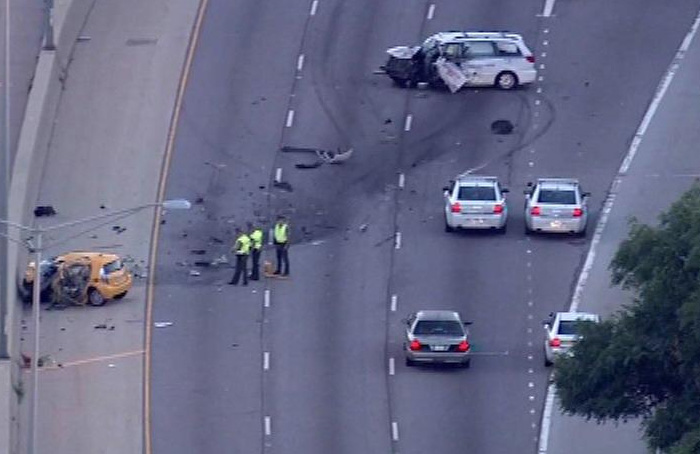Wypadek-autostrada-w-USA