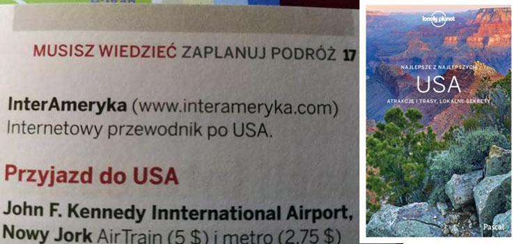 Lonely Planet - planowanie podróży USA