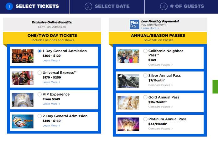 Bilety do Universal Studio