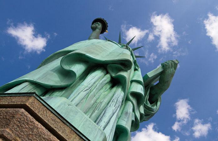 Statua Wolności - widok z piedestału