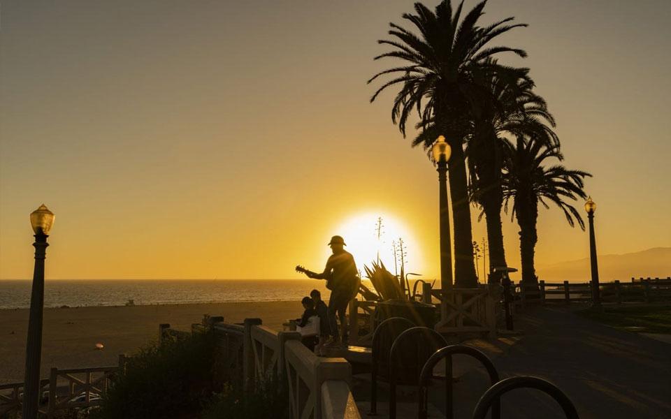 Kalifornia-Santa-Monica-Zachód-słońca